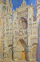 Rouen Cathedral, Portal in the Sun, 1894, monet