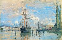 The Seine at Rouen, 1872, monet