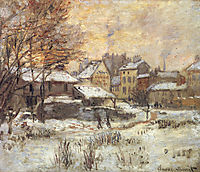 Snow Effect with Setting Sun, 1875, monet