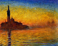 Twilight, Venice, 1908, monet