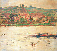 Vetheuil, Barge on the Seine, 1902, monet