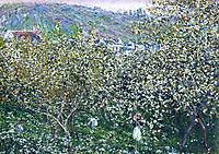 Vetheuil, Flowering Plum Trees, 1879, monet