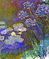 Water Lilies and Agapanthus, 1917, monet