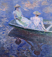 Young Girls in a Row Boat, 1887, monet