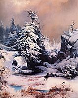 Winter in the Rockies, 1867, moran