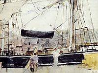 Boat on the Quay, 1875, morisot