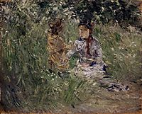 Julie with Pasie in the Garden at Bougival, 1881, morisot