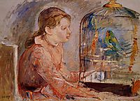 Young Girl and the Budgie, 1888, morisot