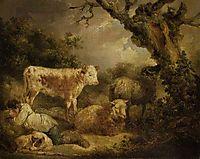 Calf and Sheep, morland
