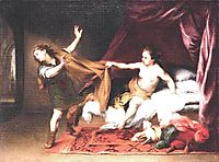 Joseph and Potiphar-s Wife, c.1665, murillo
