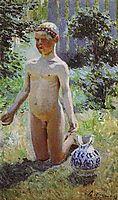 The Boy nearly broken jug, 1899, musatov