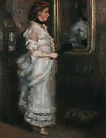 Lady in the mirror with a fan, 1882, pantazis