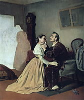 Arrival schoolgirl to a blind father , 1870, perov