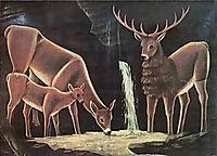 The family of deer, 1917, pirosmani