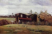 The bohemian-s wagon, 1862, pissarro