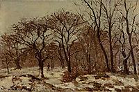 Chestnut Orchard in Winter, 1872, pissarro