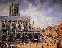 The Church of St Jacques in Dieppe, Morning Sun, 1901, pissarro