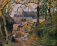 Farm at Montfoucault, 1874, pissarro