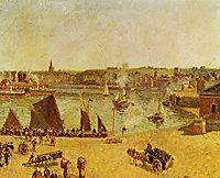 The Inner Harbor, Dieppe, 1902, pissarro