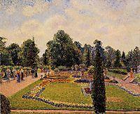 Kew Gardens - Path to the Great Glasshouse, 1892, pissarro