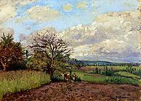 Landscape with a Cowherd, c.1872, pissarro