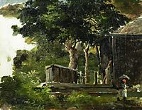 Landscape with House in the Woods in Saint Thomas, Antilles, c.1855, pissarro