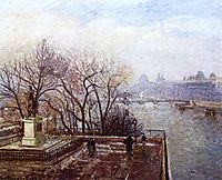 The Louvre, Morning, Mist, 1901, pissarro