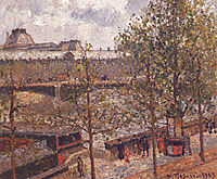 The Louvre, Morning Sun, Quai Malaquais, 1903, pissarro