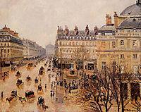 Place du Theatre Francais Rain Effect, pissarro