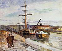 The Port of Rouen, 1883, pissarro