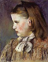 Portrait of Eugenie Estruc, 1876, pissarro