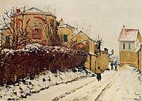 The street of the Citadelle, Pontoise, 1873, pissarro