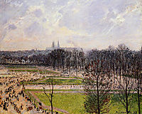 The Tuileries Gardens Winter Afternoon, 1899, pissarro