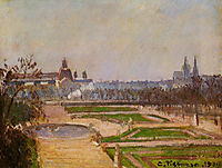 The Tuileries and the Louvre, 1900, pissarro