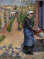 Young Woman Washing Plates, 1882, pissarro