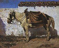 White Horse. Normandy., 1874, polenov