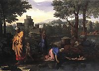 The Exposition of Moses, c.1650, poussin