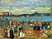Bathing Tents, St. Malo, 1907, prendergast