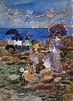 Low Tide, c.1897, prendergast