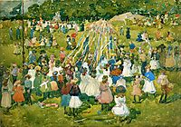 May Day, Central Park, 1901, prendergast