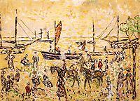 The Shore, c.1915, prendergast
