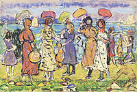 Sunny Day at the Beach, prendergast