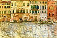 Venetian Palaces on The Grand Canal, 1899, prendergast
