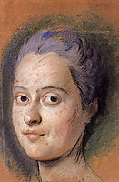 Preparation to the portrait of the Dauphine Marie Josephe of Saxony, quentindelatour