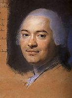 Study to the portrait of the magistrate Jacques Laura Cooper Breteuil, quentindelatour
