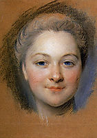 Study to portrait of unknown woman, quentindelatour