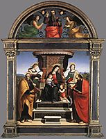 Madonna and Child Enthroned with Saints, 1504-1505, raphael