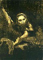 Caliban on a branch, 1881, redon