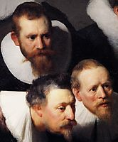 The Anatomy Lecture of Dr Tulp, detail 1, 1632, rembrandt