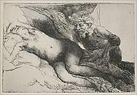 Antiope and Jupiter, 1659, rembrandt